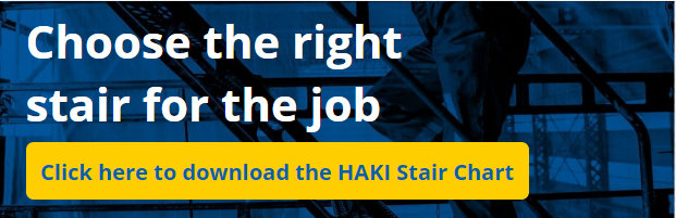 Choose the right stair for the job with the HAKI Stair Chart