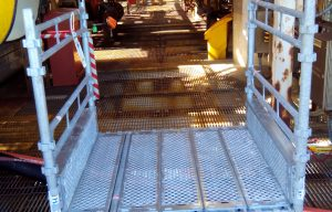 HAKI Universal scaffolding for offshore projects.