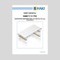 HAKITEC temporary roof monopitch user guide