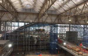 HAKI modular scaffolding - Waterloo Station temporary works