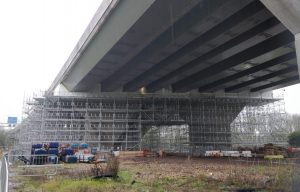 Birdcage scaffolding - Gade Valley - Alltask project - scaffolding case study